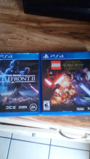 Battlefront 2 and Lego star wars the force awakens PS4 games for Sale in Reedley, CA