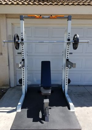 OLYMPIC WEIGHT GYM SET-UP for Sale in Riverside, CA
