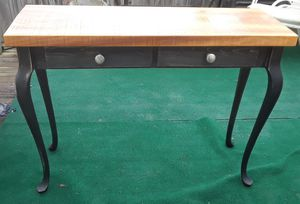 Distressed Black Entryway Table/Entertainment Center for Sale in Columbus, OH