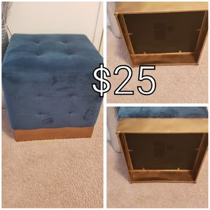 Small ottoman (dark blue ) size 18x18 for Sale in Annandale, VA