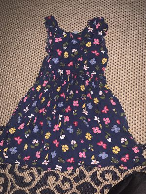 Blue girl dress flower summer carters size 7 7t for Sale in Paramount, CA
