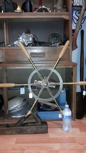 Lucas Brass Ship wheel with gear for Sale in Shelton, WA