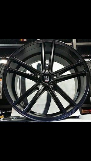 Koko future massa 5 satin black wheels 20x9 and 20x10.5 fits BMW Mercedes Chevy Ford Infiniti for Sale in Tempe, AZ