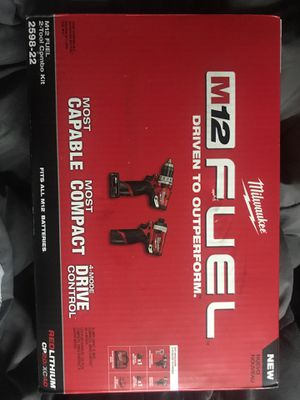 Milwaukee M12 FUEL 2 tool Combo kit comes with 2 batteries charger and bag for Sale in Brooklyn, NY