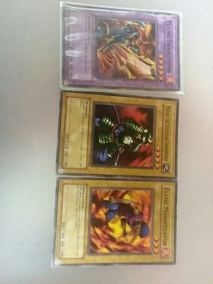 Rare Yugioh Cards Flame Swordsman Plus Both Fusions for Sale in Sunbury, OH