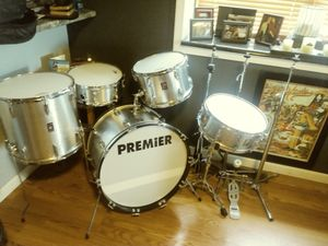 Vintage 1972 premier drum set (new heads) $1500 o.b.o for Sale in Peoria, IL