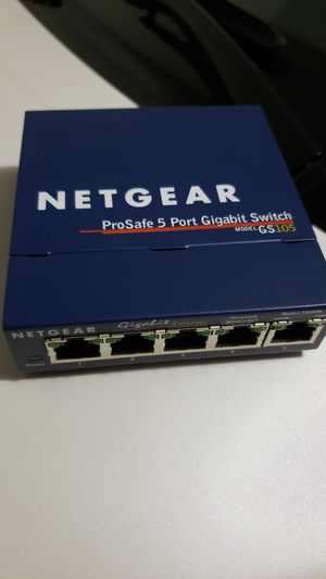 Netgear GS105 prosafe 5 port gigabit switch with power adapter for Sale in Alhambra, CA