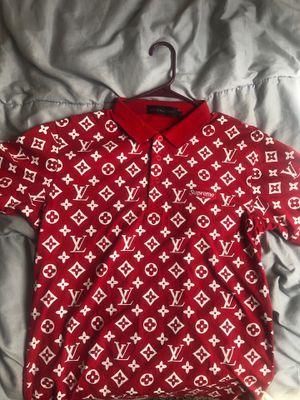 Louis Vuitton x SUPREME Polo Shirt Men's Large for Sale in Las Vegas, NV