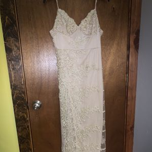 Gold/Tan Lace VNeck Prom Dress for Sale in Concord, NH