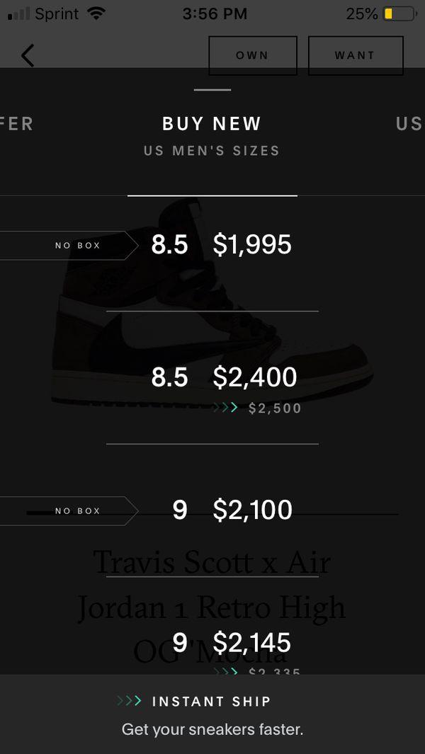 Travis Scott Jordan 1 size 8.5 worn once No trades