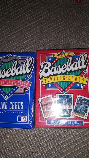 1990 Premier Edition and 1991 baseball Major League All-Stars playing cards for Sale in Seattle, WA