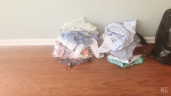 Men's clothes shirts size 34 to 36 and pants size 38 to 36 and 15 t shirts 3 shorts
