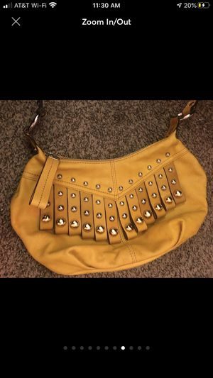 B Makowsky yellow crossbody bag with long strap for Sale in Alexandria, VA