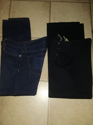 WOMEN'S BURBERRY SIZE 6 (NOT DENIM) MEN'S BUTTON FLY JEANS SIZE 32 BOTH ITEMS PRE-OWNED I AM NOT SELLING INDIVIDUALLY SO DON'T ASK. IRVING AREA for Sale in Grand Prairie, TX