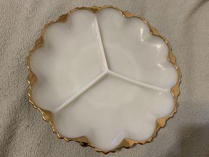 Gold Trimmed Appetizer Plate for Sale in Davenport, FL