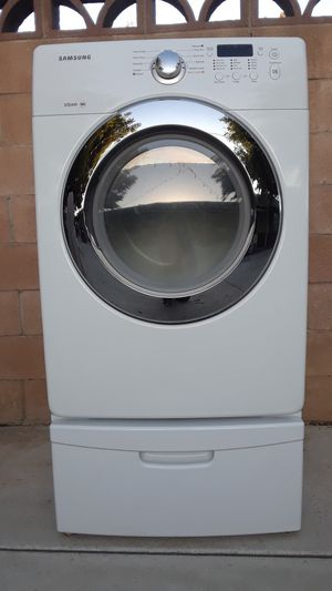 Front Load Samsung Dryer With Pedestal for Sale in Chino, CA