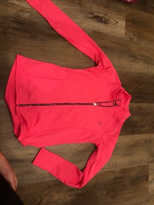 NWOT girls size 14 hot pink yoga jacket for Sale in Houston, TX
