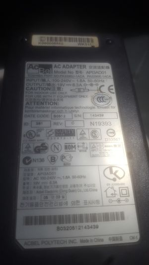 Toshiba Laptop Charger API3AD01 for Sale in Anaheim, CA