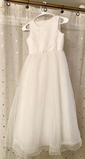 Ivory Flower Girl Dress Tulle & Satin David's Bridal Size 10 for Sale in Tarpon Springs, FL