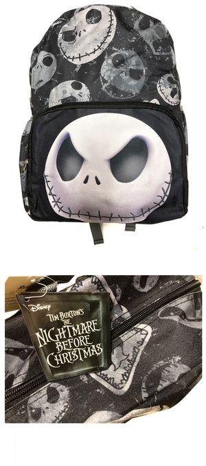NEW! Disney The Nightmare Before Christmas jack skellington and sally Tim Burton's Backpack back to School Bag Travel Bag Shoulder bag book bag for Sale in Los Angeles, CA