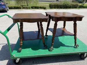 Two antique tables(1930's) with ball and claw feet for Sale in Round Rock, TX