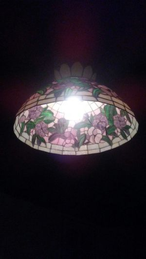 Huge beautiful tiffany antique hanging glass lamp for Sale in Rocky River, OH