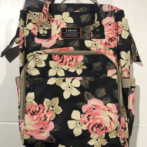 NWT Lokass Diaper Bag/Backpack Flower Pattern - $25 for Sale in Claremont, CA