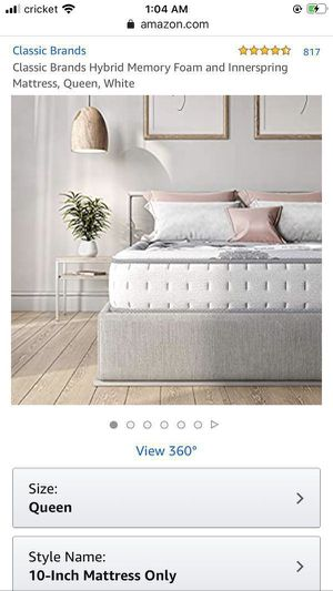 New Cool gel memory foam hybrid mattress queen size 190$ for Sale in Columbus, OH