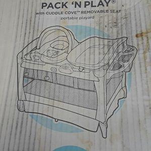 Baby Playpen and waterproof mattress, new - open box. for Sale in Riverside, CA
