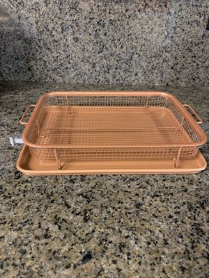 2-Piece Non-Stick Bakeware Set for Oven with Crisper Pan and Cookie Sheet, 13 x 9-Inch for Sale in Portsmouth, VA