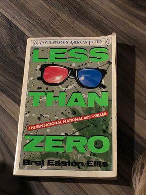 Less than zero fiction Bret Easton Ellis novel great movie/book vintage for Sale in Euless, TX