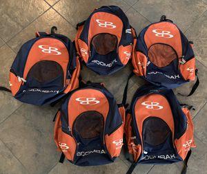 5 BOOMBAH Wonderpack Backpack Softball Baseball Bat Bag Orange Navy for Sale in Las Vegas, NV
