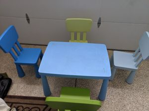 Ikea kids table and chair set for Sale in Fremont, CA