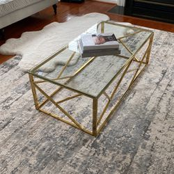 Alex Gold Frame- Coffee Table for Sale in Nokesville,  VA