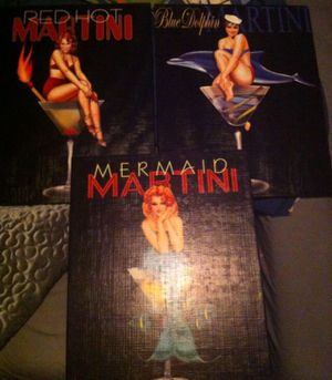 3 Ralph Burch Pin Up Girl Martini Pictures for Sale in Metairie, LA