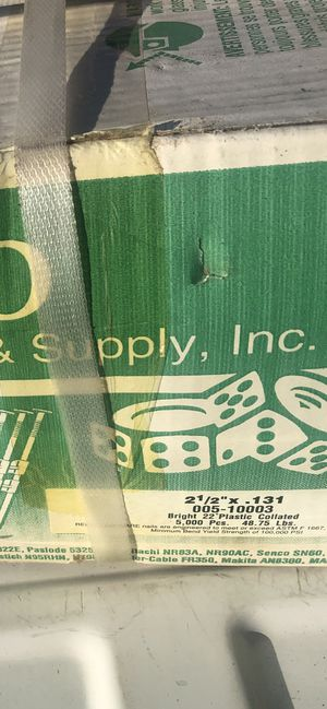 "Gun Nails Reno Hardware Supply Inc 2 1/2 "" x .131 for Sale in Norco, CA"