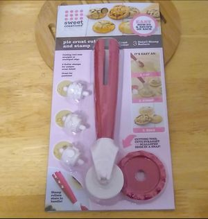 New Unopened Pie Crust and Pastry Cutter and Stamp for Sale in Binghamton, NY