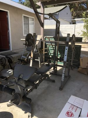 Weight rack and bench ! for Sale in Glendale, CA