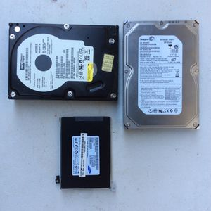 3 Hard Drives Sata IDE and SSD for Sale in Phoenix, AZ