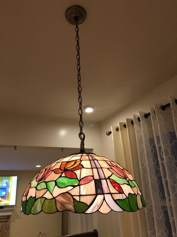 Beautiful glass mosaic chandelier