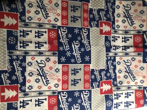 1 yard Los Angeles Dodgers Holiday on Cotton fabric for Sale in Pomona, CA