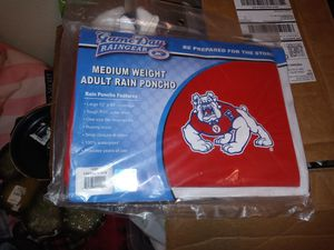 NEW FRESNO STATE RAIN PONCHO for Sale in Fresno, CA