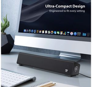 Bluetooth 5.0 Computer Speaker, Wired/Wireless Computer Sound Bar, Mini Soundbar Speaker for PC/Cellphone/Tablets/Desktop/Laptop, RCA/Aux Connection for Sale in Piscataway, NJ