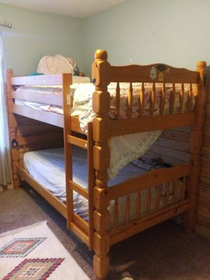 Twin bunk beds solid wood for Sale in Battle Ground, WA