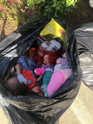 Two big trash bags & stroller free ((MUST TAKE ALL)) for Sale in Wilmington, CA