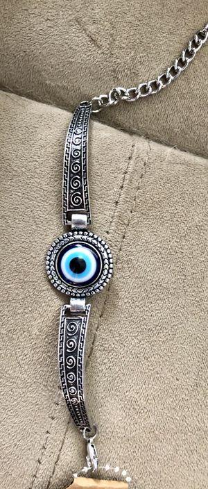 New Evil Eye Silver Designed Glass Bracelet for Sale in Baltimore, MD