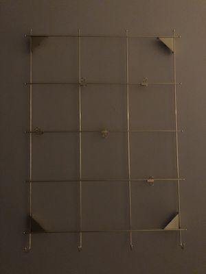 Gold metal decorative wall rack/organizer for Sale in Washington, DC