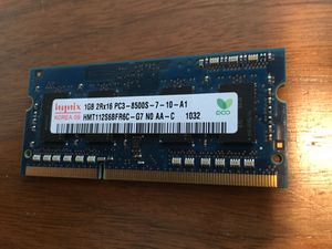 1gb and 256mb laptop ram cards for Sale in Providence, RI