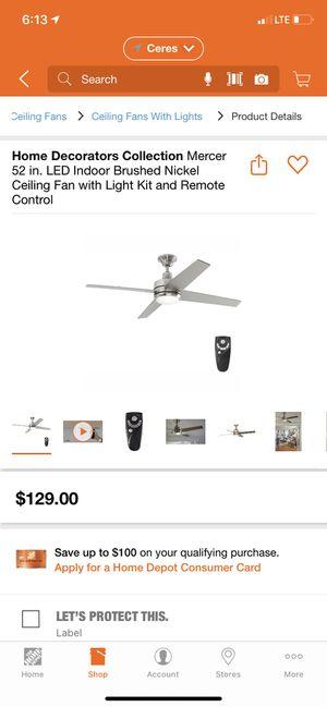 Home decor ceiling fan for Sale in Modesto, CA