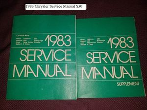1983 Chrysler Service Manual $30 for Sale in Dresden, OH
